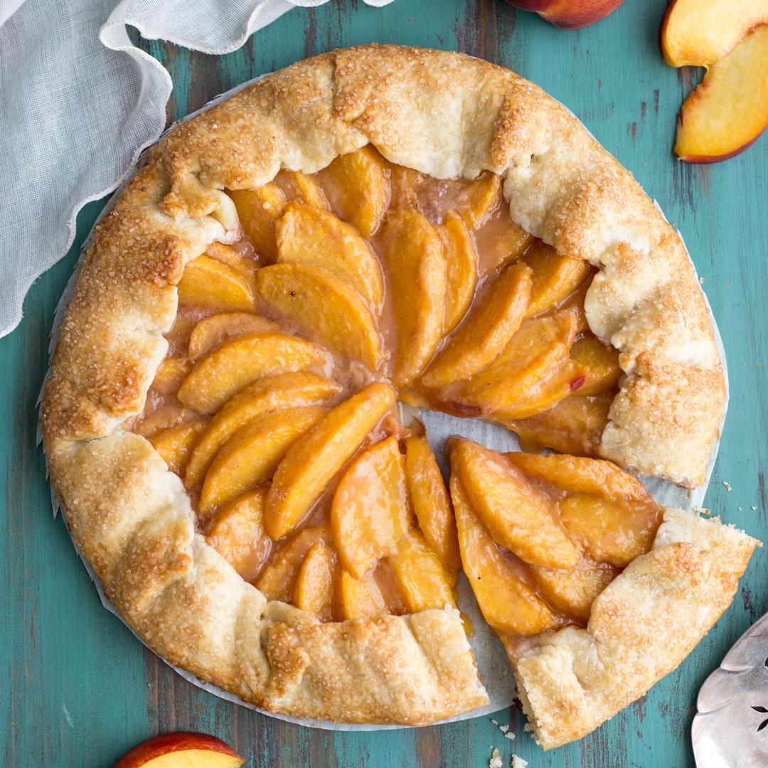 Peach Crostata {Peach Galette}