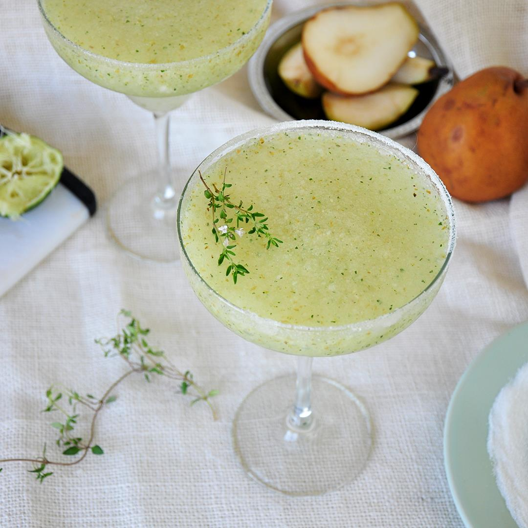 Frozen Thyme and Pear Margarita
