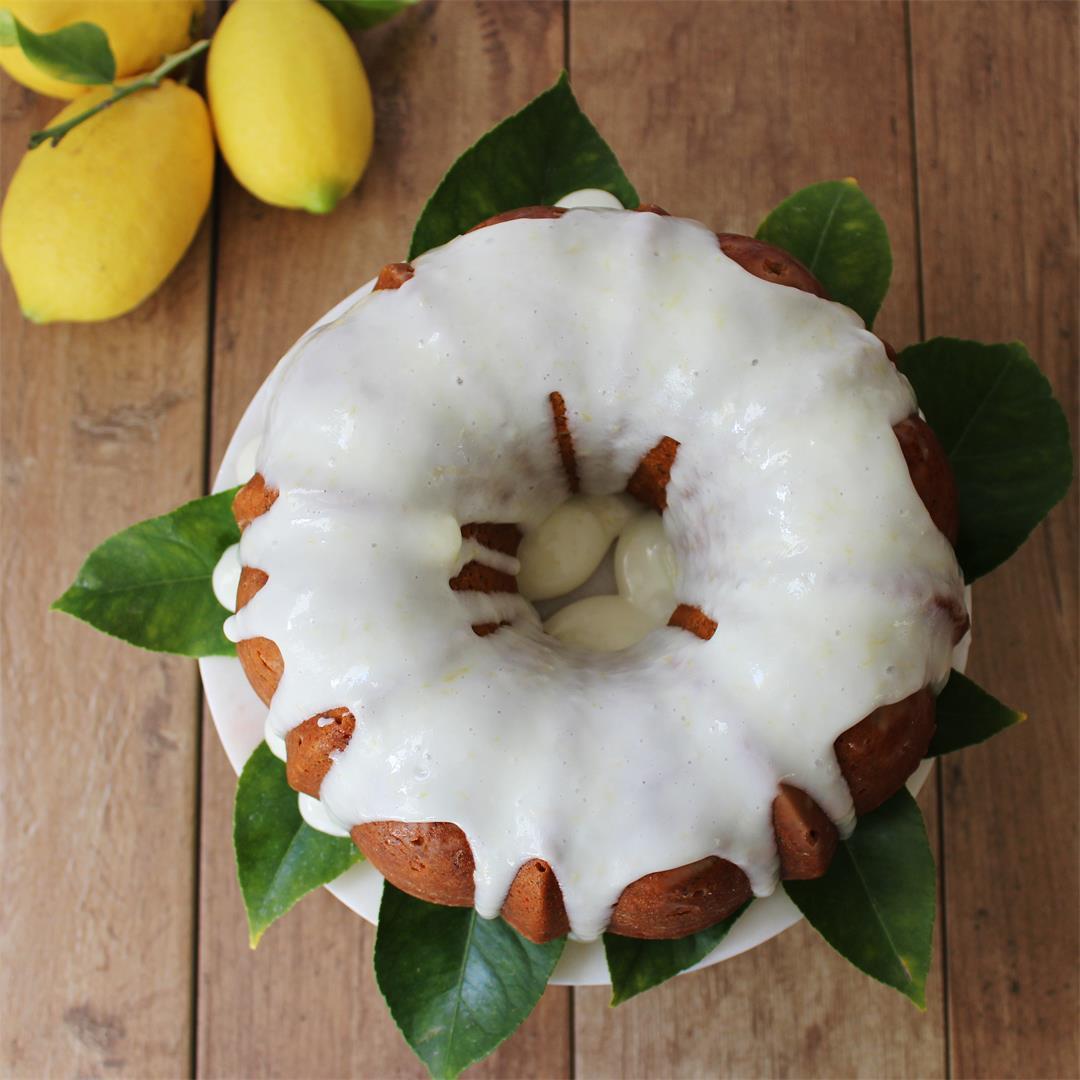 Lemon Poppy Seed Cake with Cream Cheese Glaze