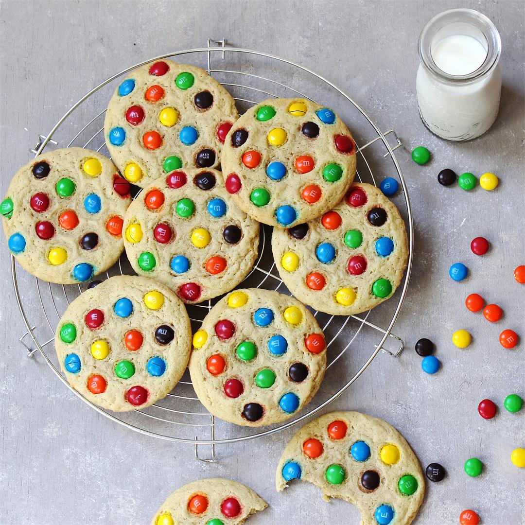 Bakery Style M & M Cookies