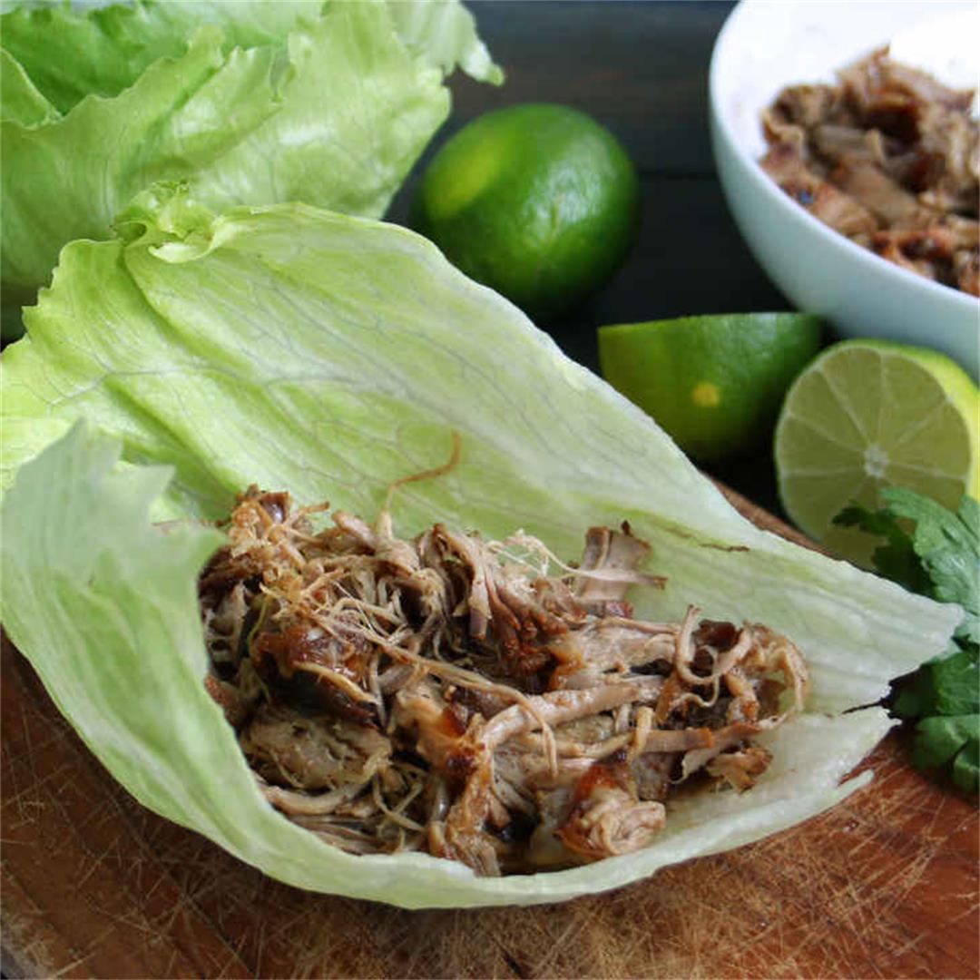 Keto Pork Carnitas Recipe with Lettuce Wraps