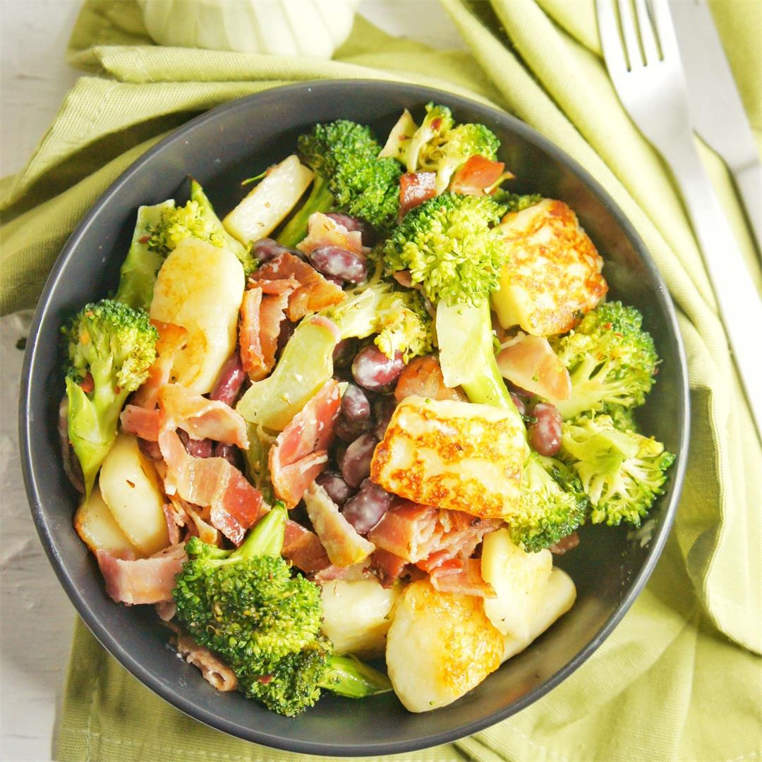 Broccoli and Haloumi Salad