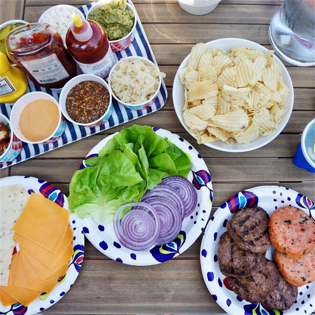 Build your own gourmet burger bar