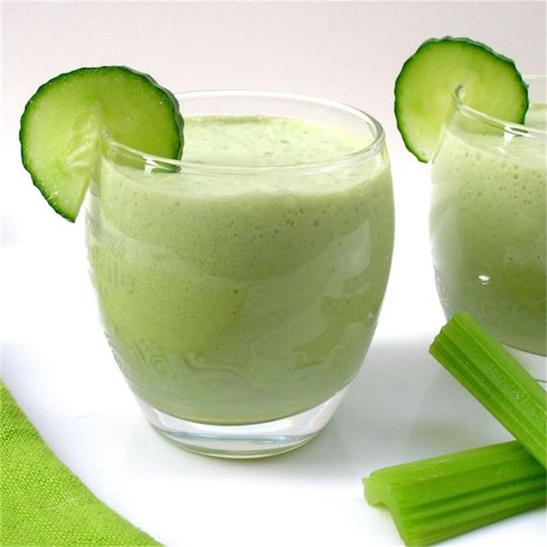 Cucumber & Celery Kefir Smoothie or Summer Soup