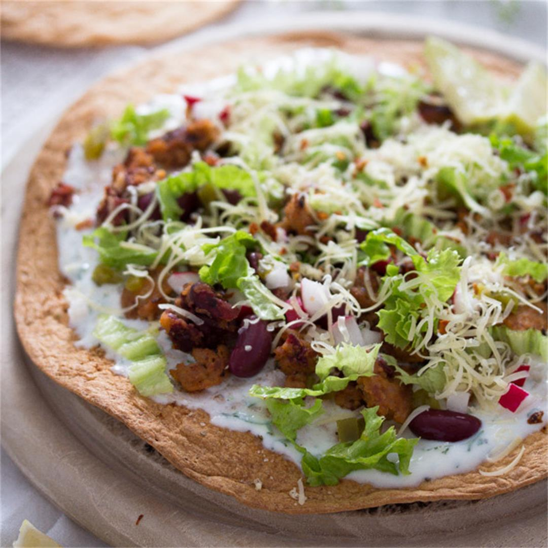 Tostadas with Chorizo and Beans – Mexican Food