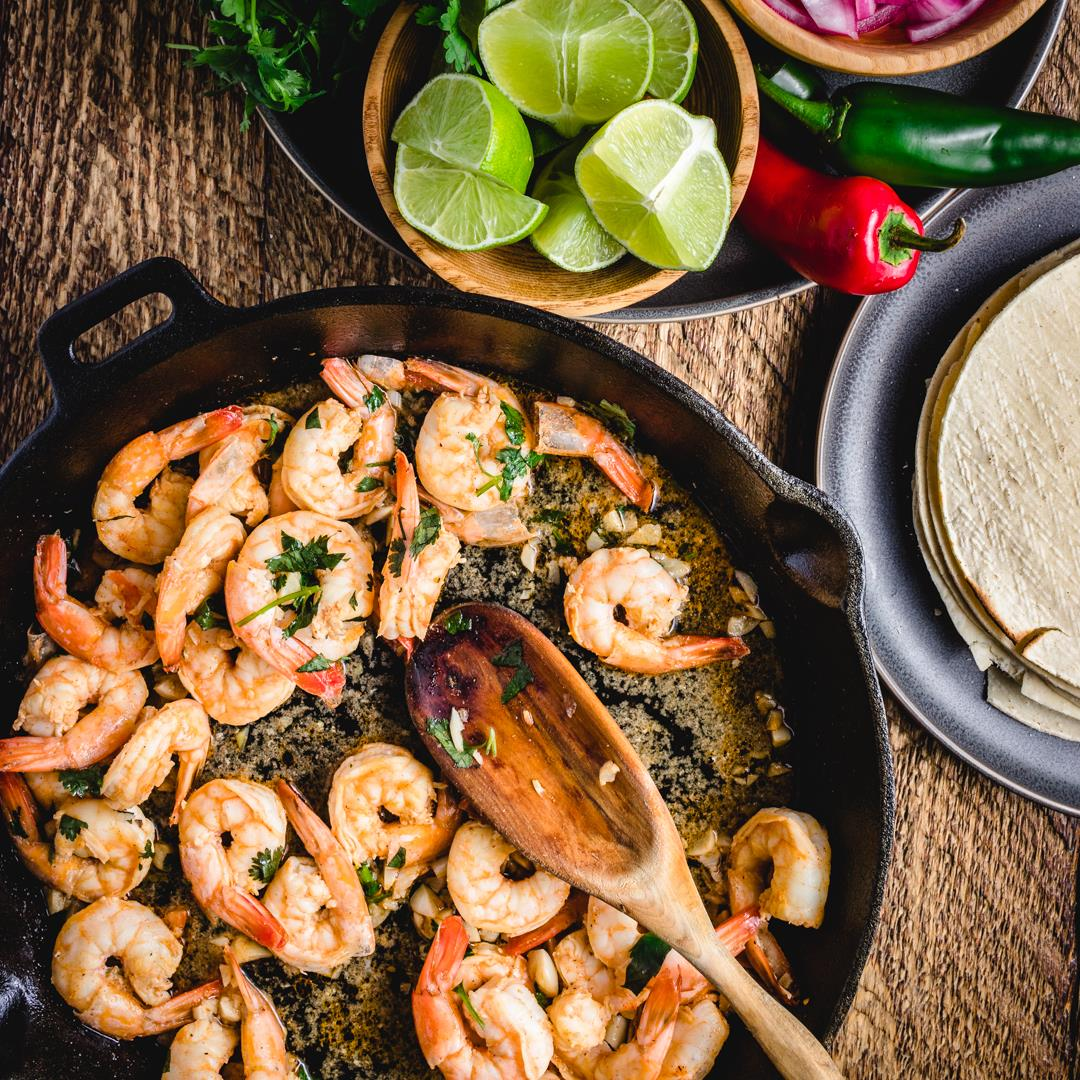 Shrimp Taco Recipe With Tequila And Lime Garlic Sauce
