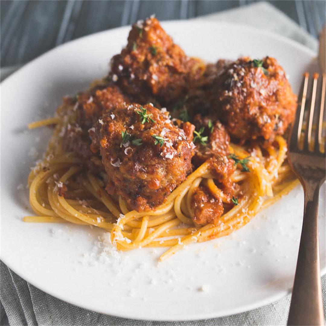 Slow Cooker Meatballs with Mushroom Marinara