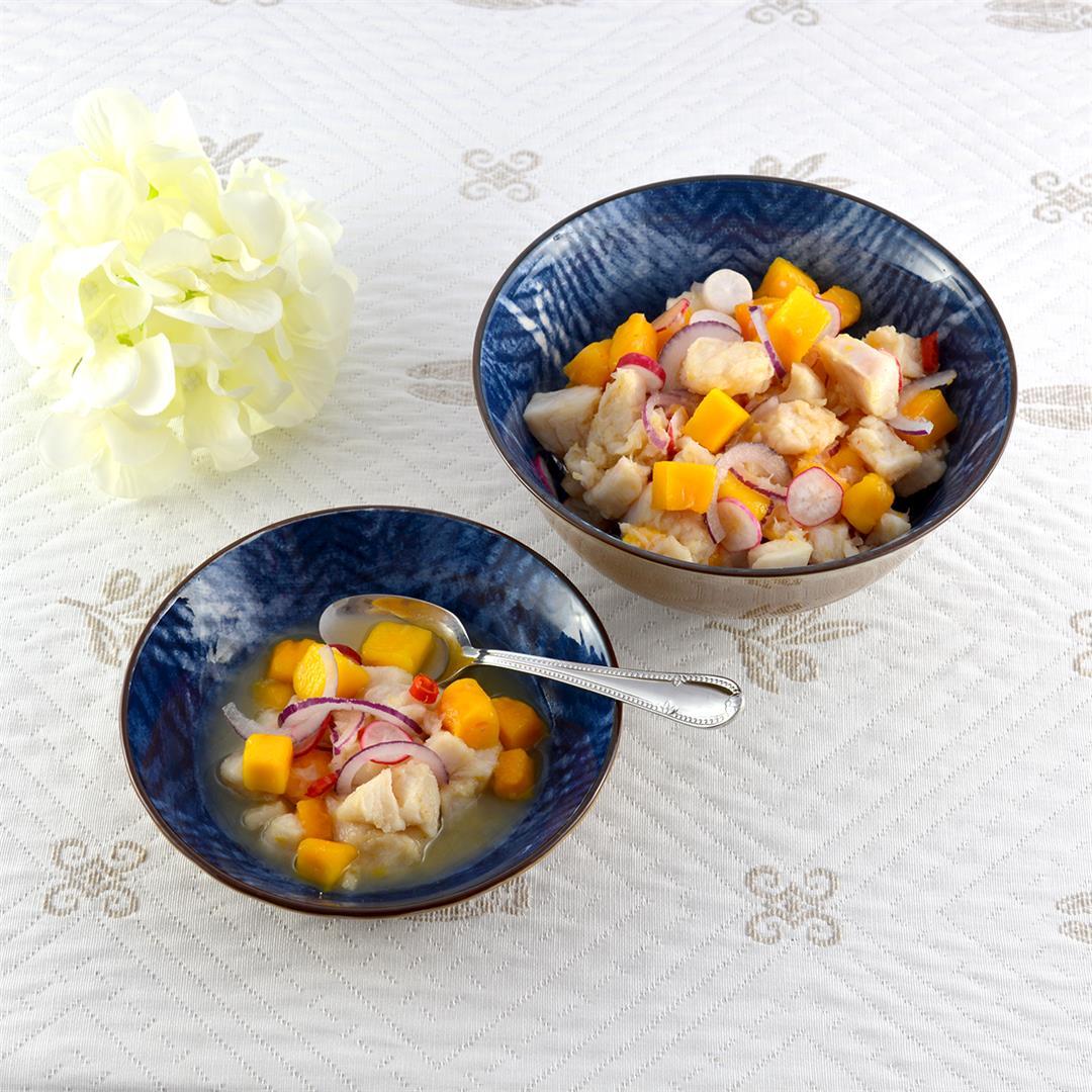 Peruvian Ceviche Appetizers Cups
