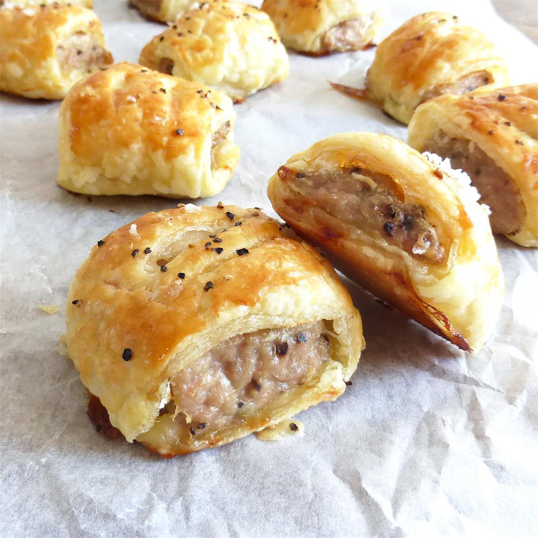 Simple Homemade Chicken Sausage Rolls