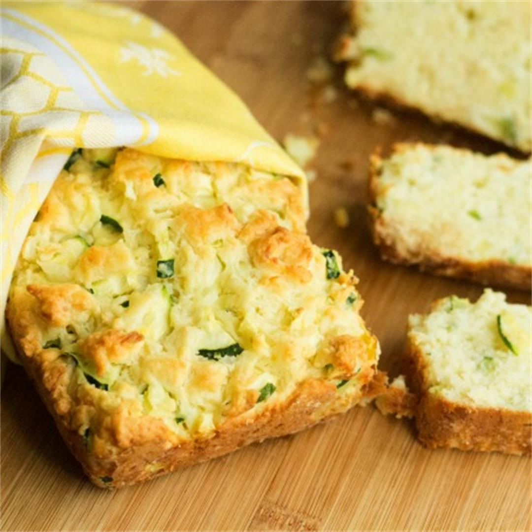 Zucchini Cheese Bread | Queenbeebaker.net