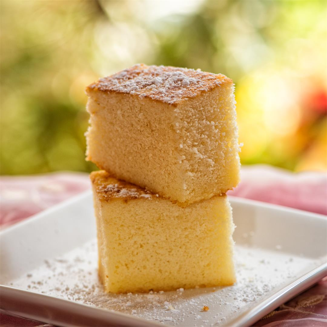 Hot Milk Sponge Cake / fluffy sponge cake