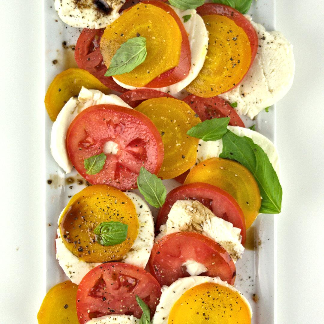 Caprese Salad with Yellow Beets