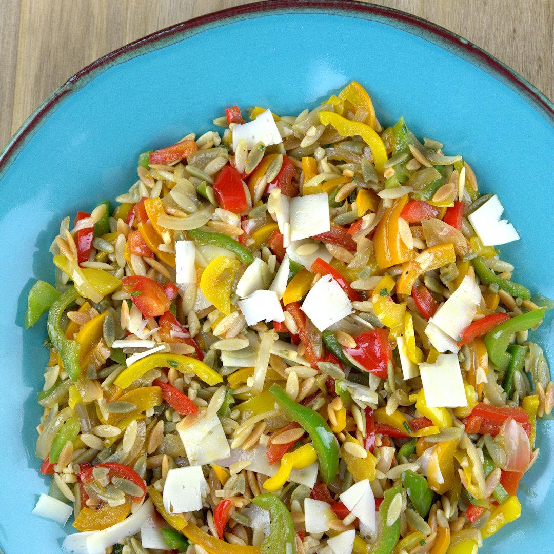 Bell Pepper Orzo Salad