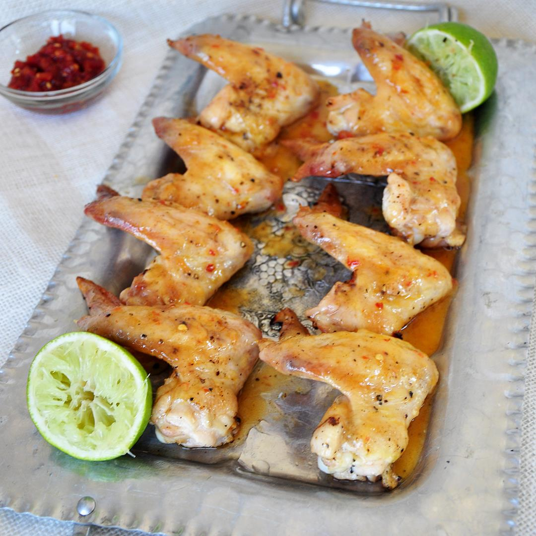 Grilled Margarita Tequila Lime Chicken Wings
