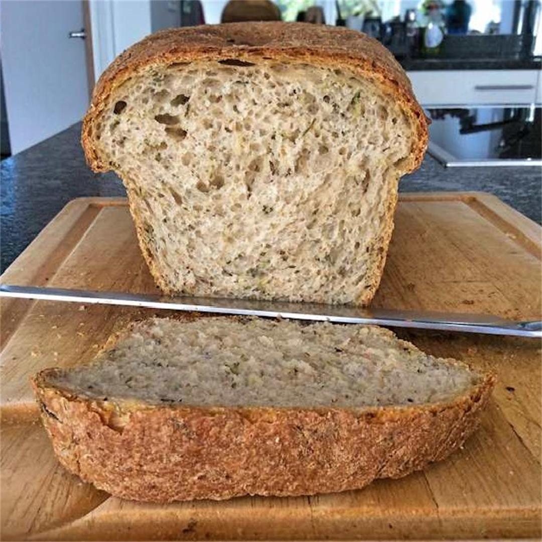 Zucchini sandwich loaf