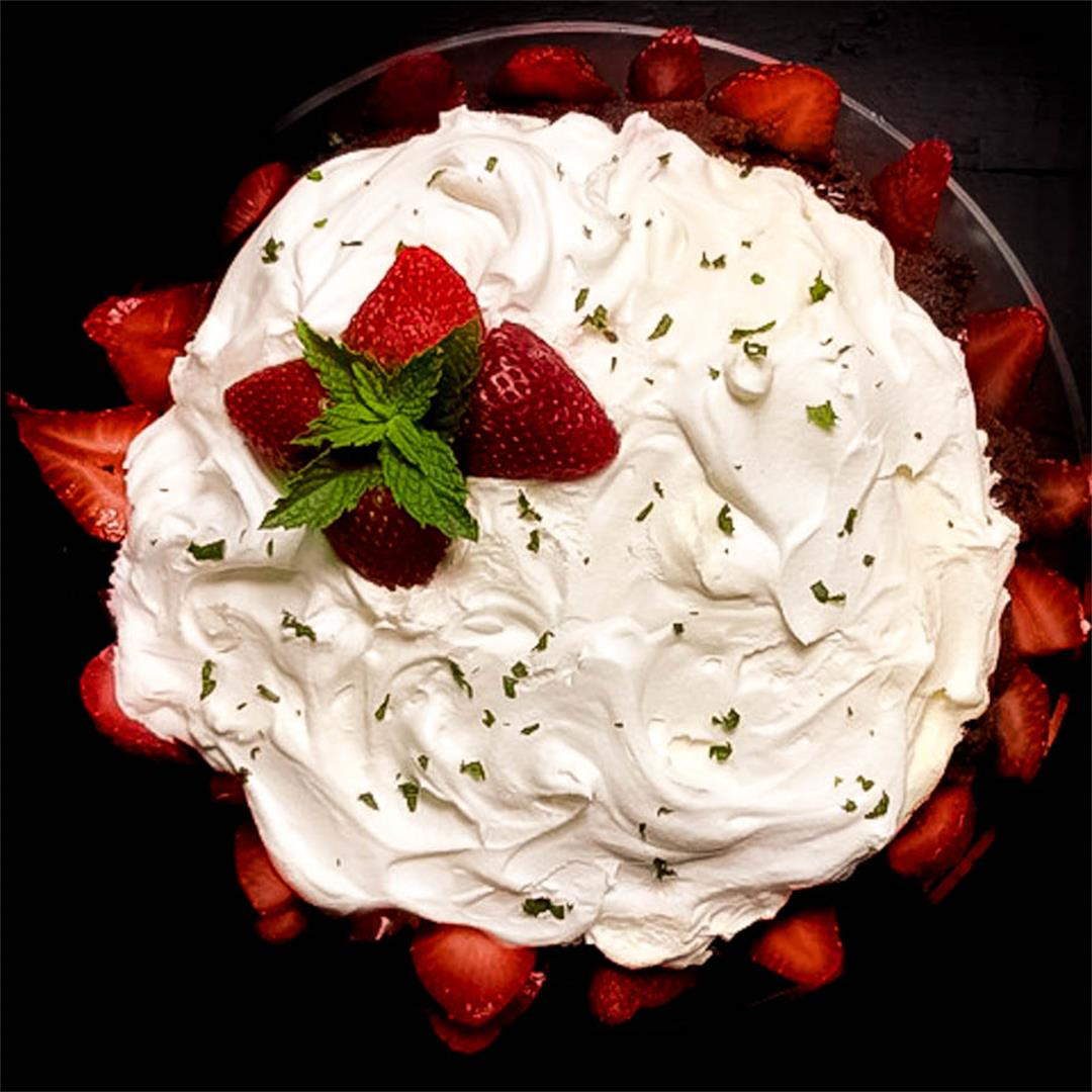 Gluten Free Strawberry Mint Chocolate Trifle