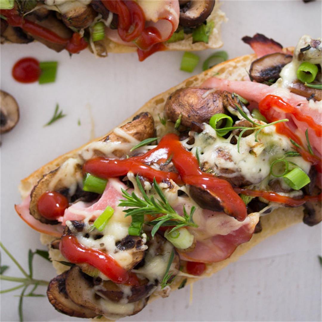 Zapiekanka - Toasted Mushroom and Cheese Sandwich – Polish Food