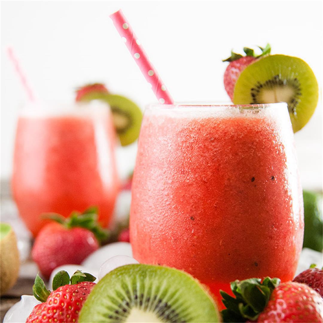 Sparkling Strawberry Kiwi Spritzers
