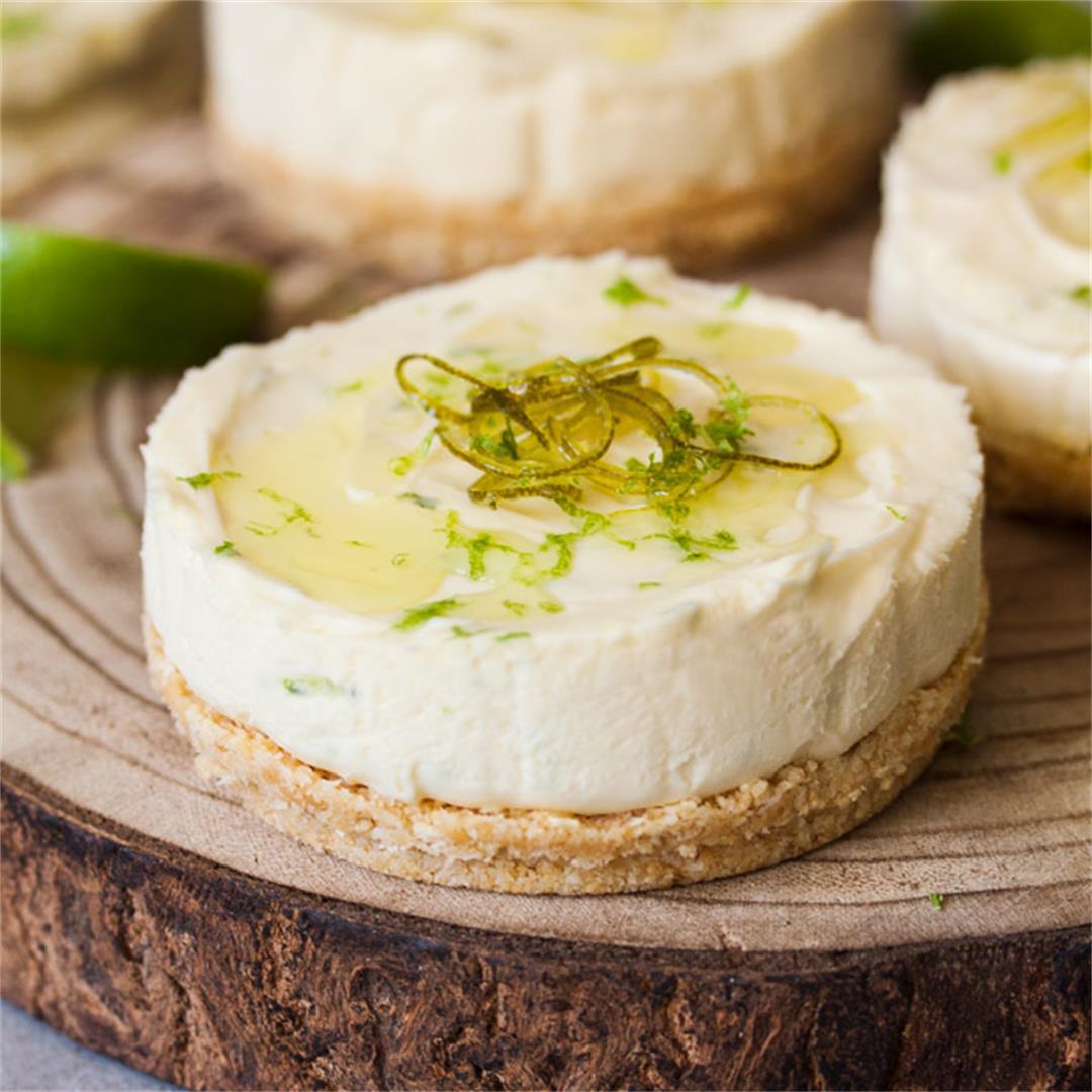 Lime No Bake Individual Cheesecakes