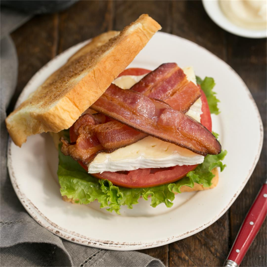 Brie, Bacon, Lettuce and Tomato Sandwich