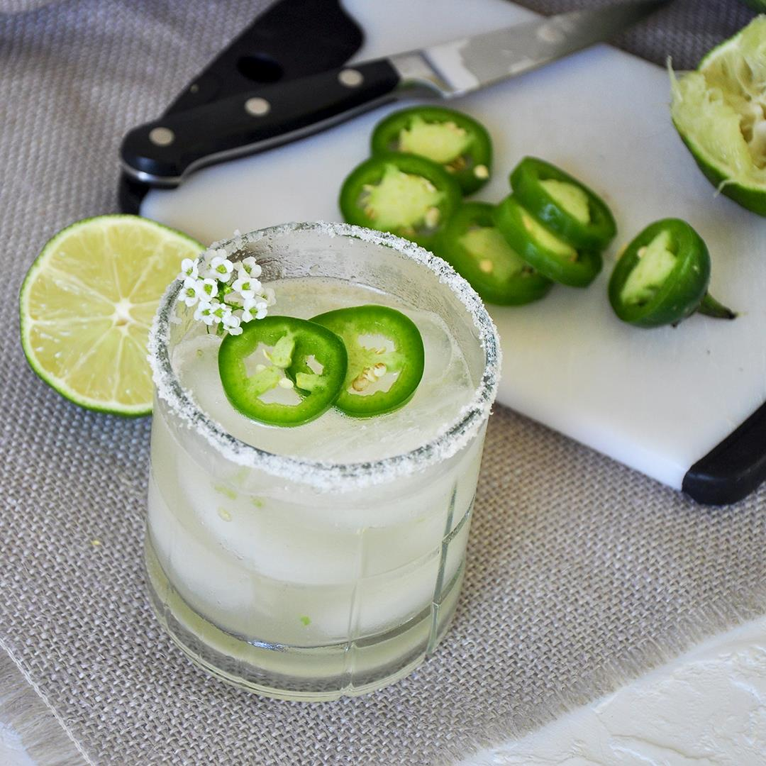 Watermelon Infused Tequila Spicy Margarita
