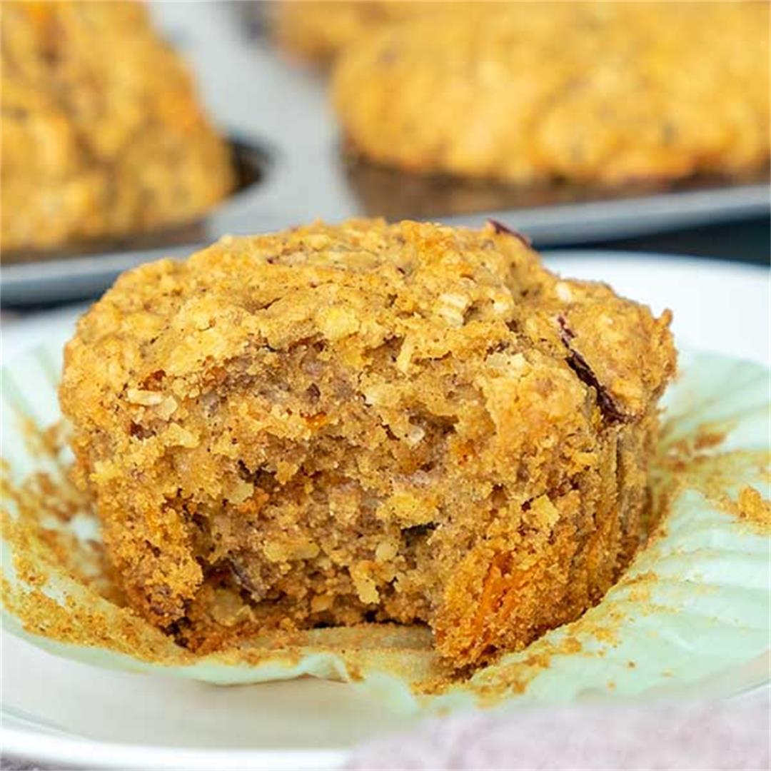 Carrot Apple Coconut Muffins (Gluten-Free, Vegan)