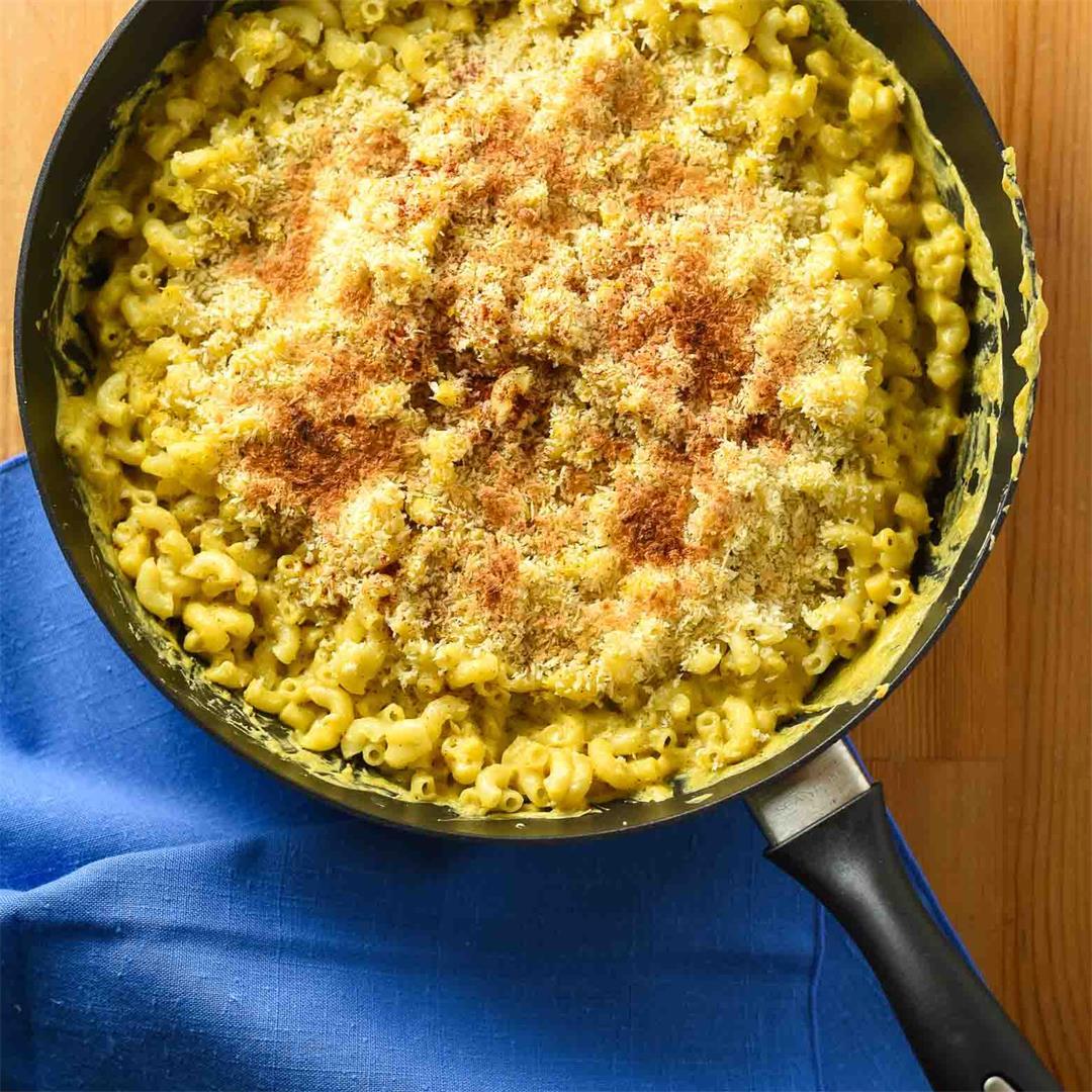 Green Chile Vegan Mac and Cheese