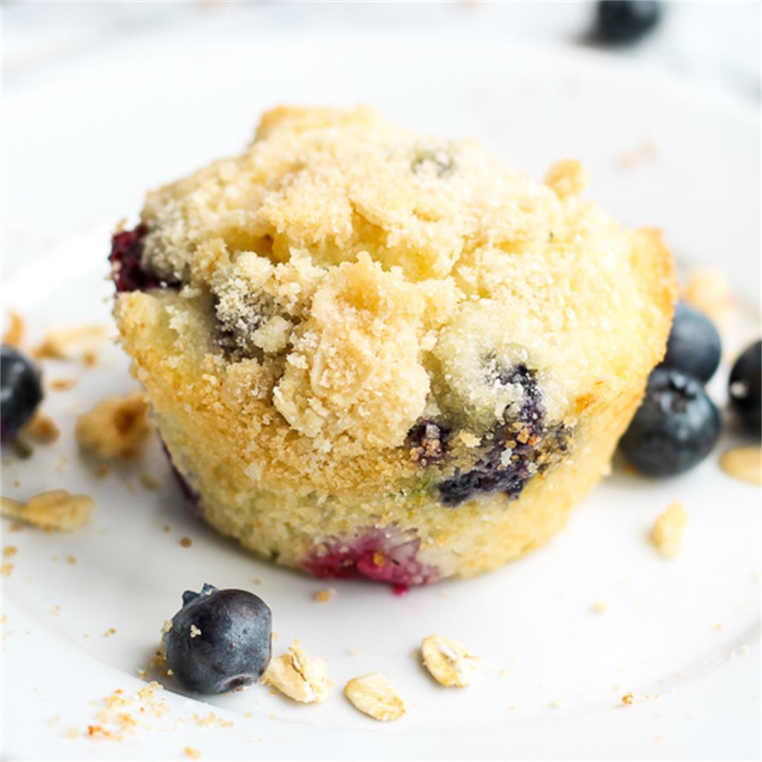 Blueberry Zucchini Mini Muffins