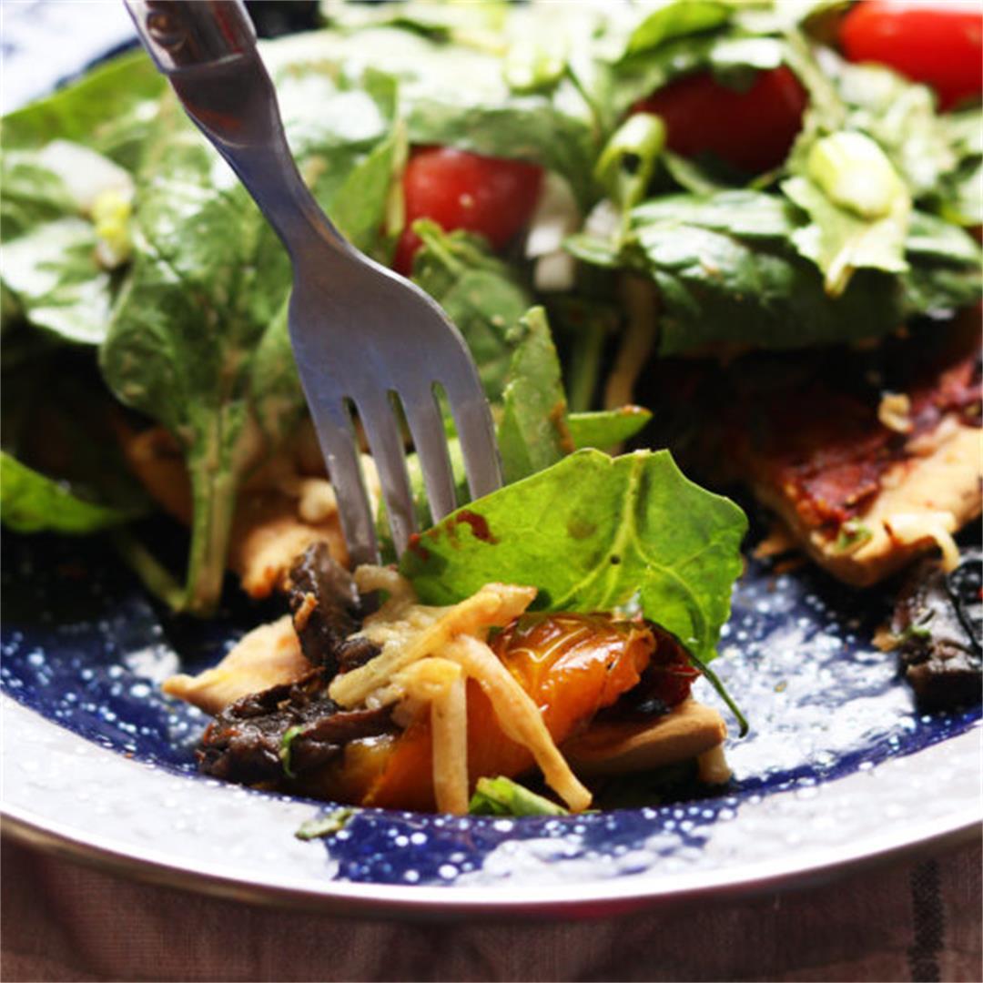 Grilled Vegetable Pizza Salad