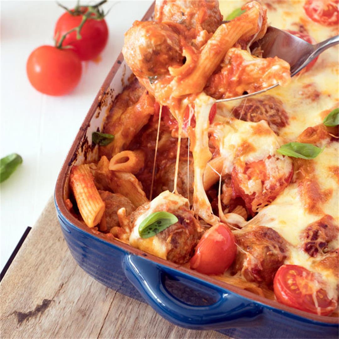 Meatball Pasta Bake Recipe