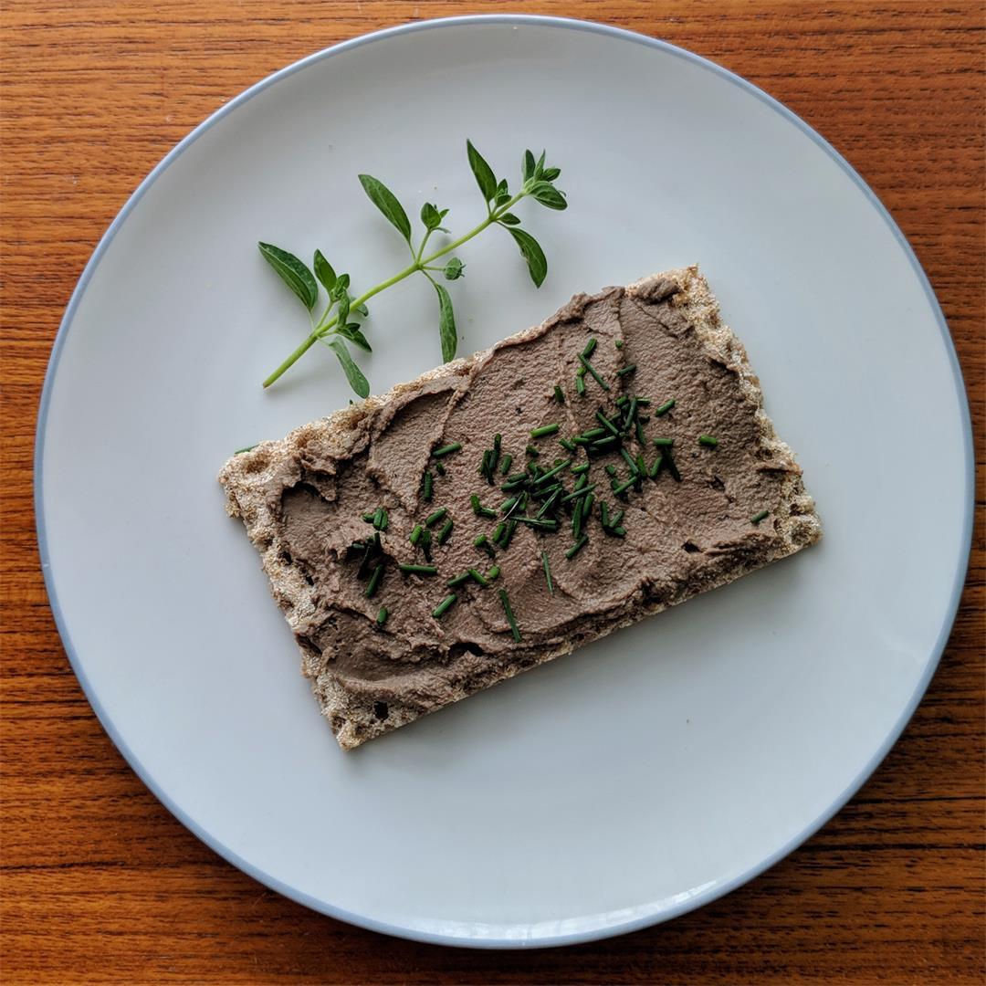 Easy chicken liver pate recipe.