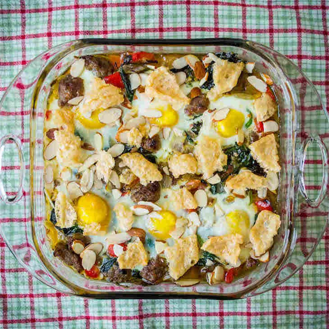 Keto Sausage Egg Bake Recipe