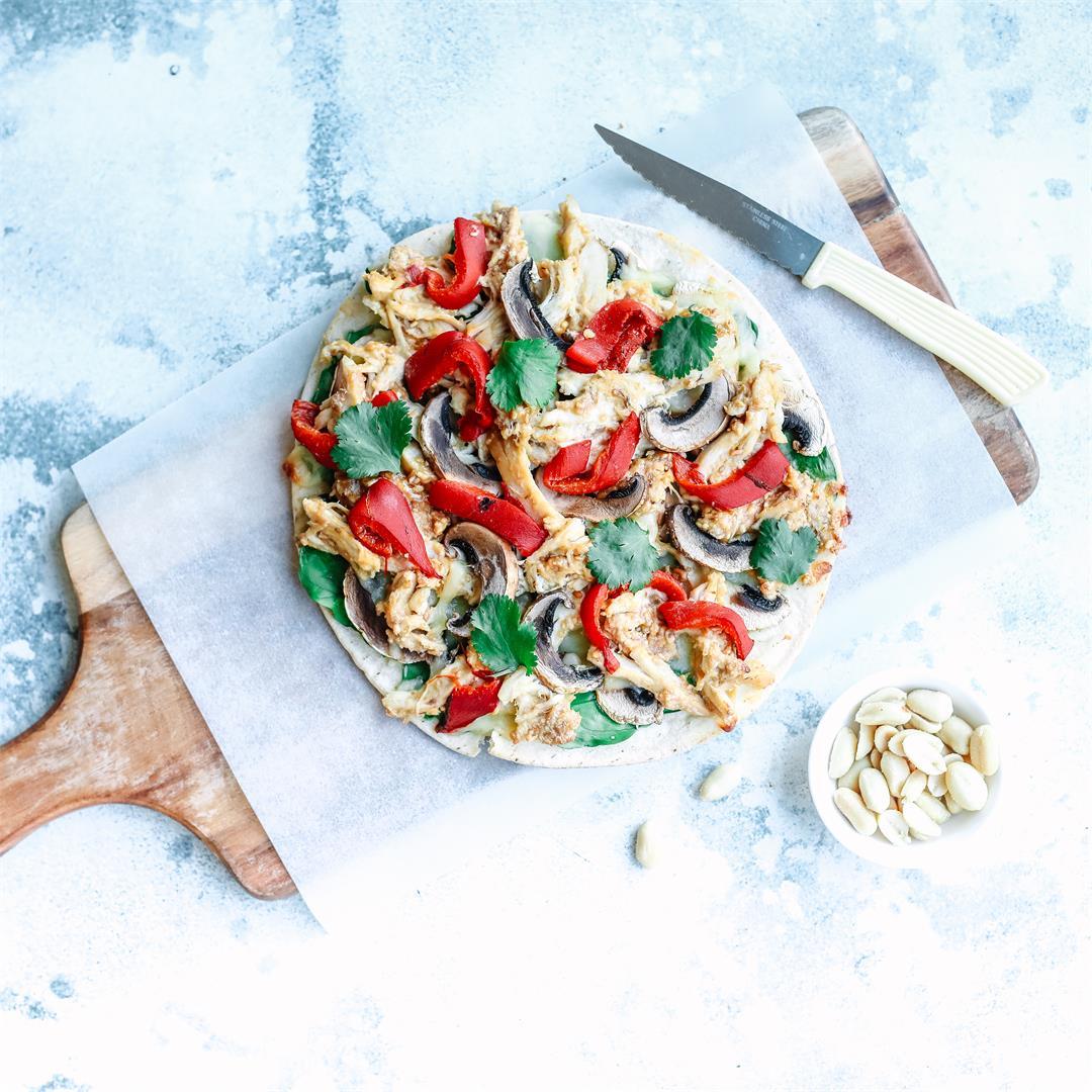 Satay Chicken Pizza - 20 Minute Dinner