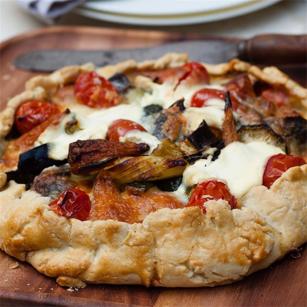 summer vegetable open pie