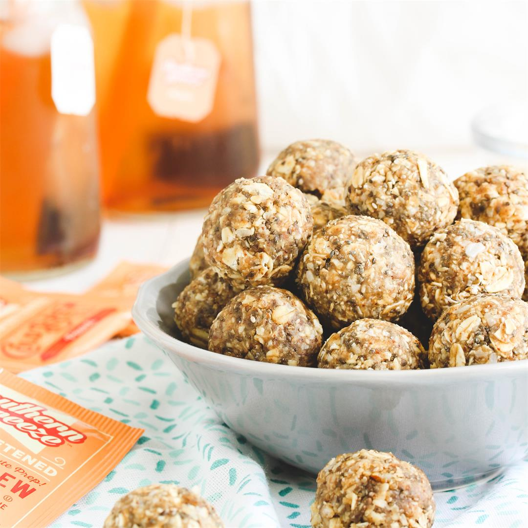 Peach Almond Sweet Tea Energy Balls