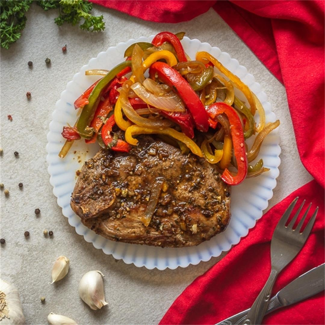 Pork with Peppers and Onions