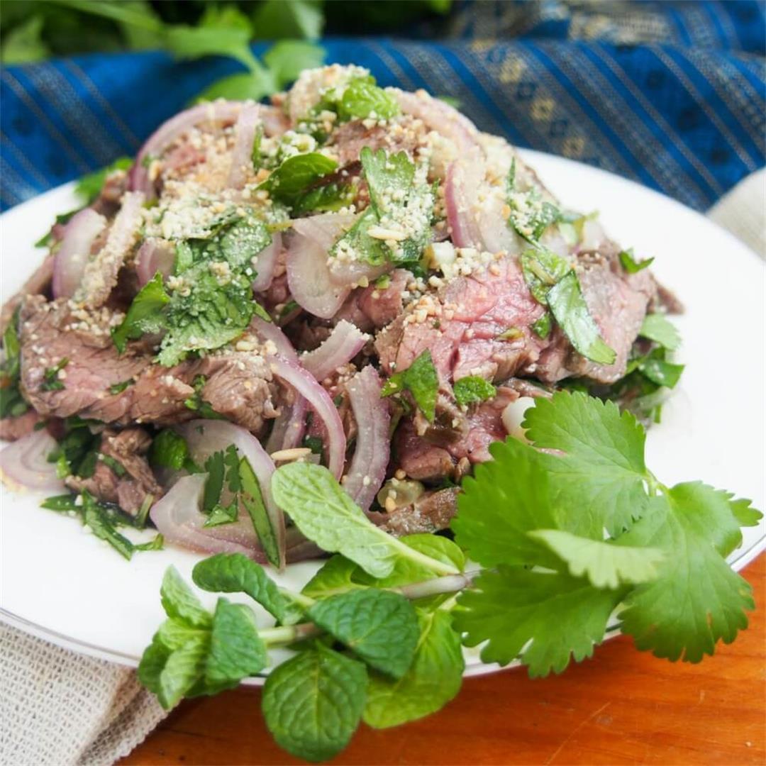 Thai beef salad (nam tok,