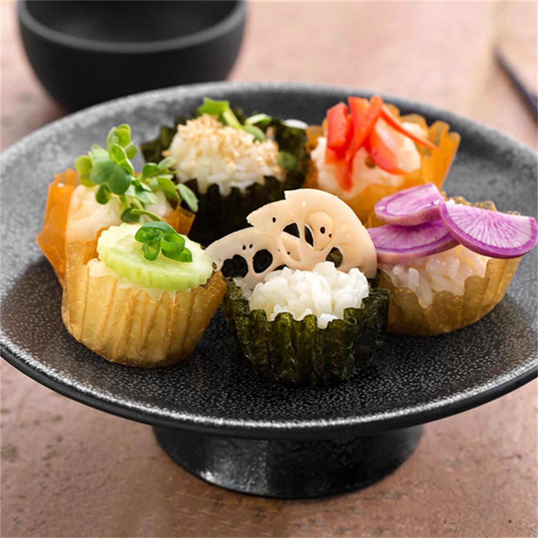 Sushi Cupcakes Made with Edible, Savory Papers!