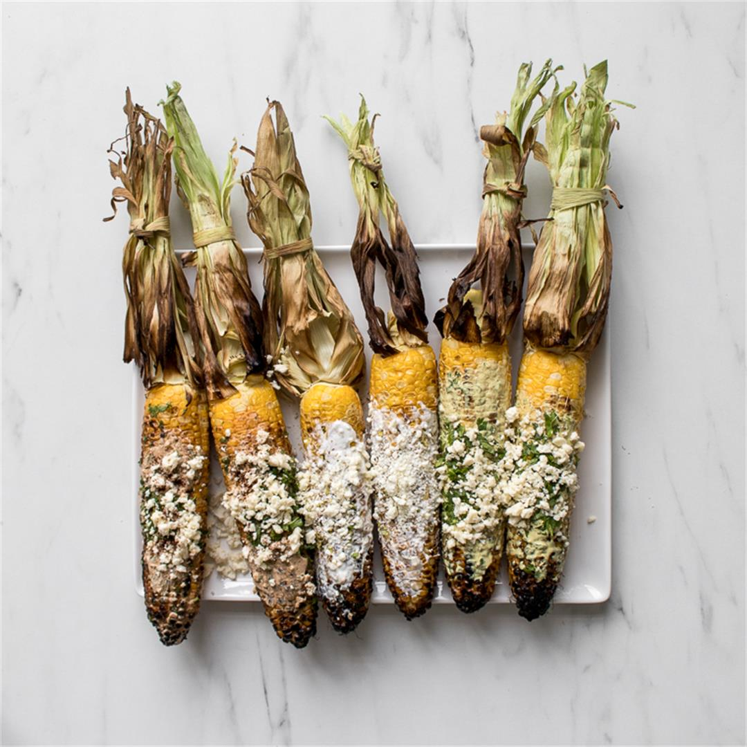 Street Corn 3 Ways: Mexican, Greek & Caribbean