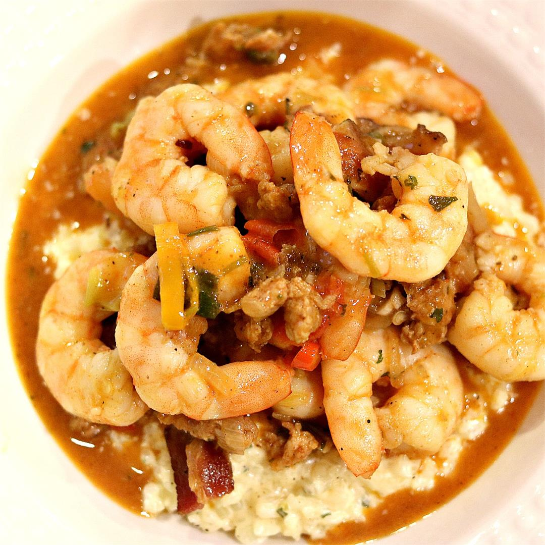 Southern Shrimp & Cauliflower Grits