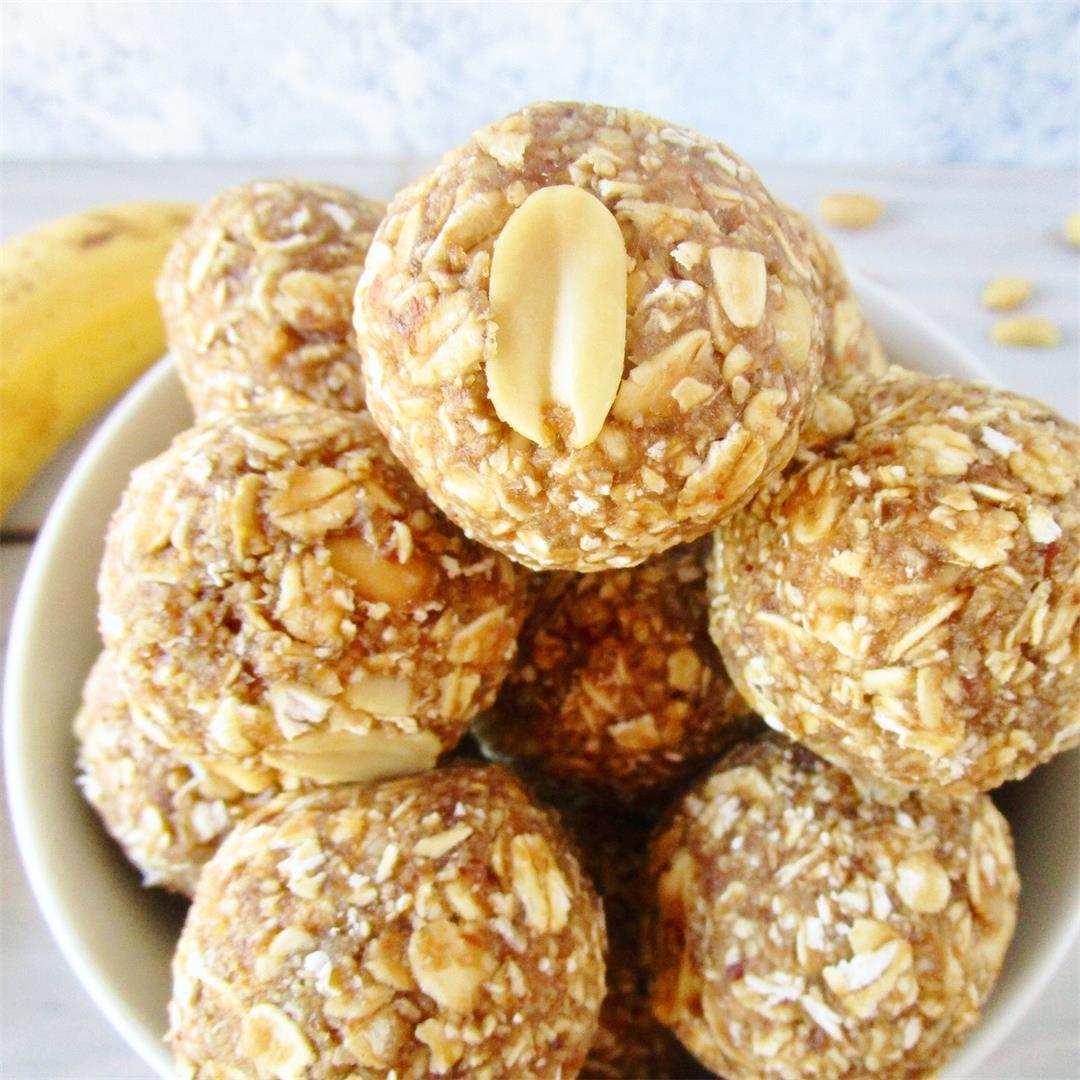 Peanut Butter Banana Snack Balls