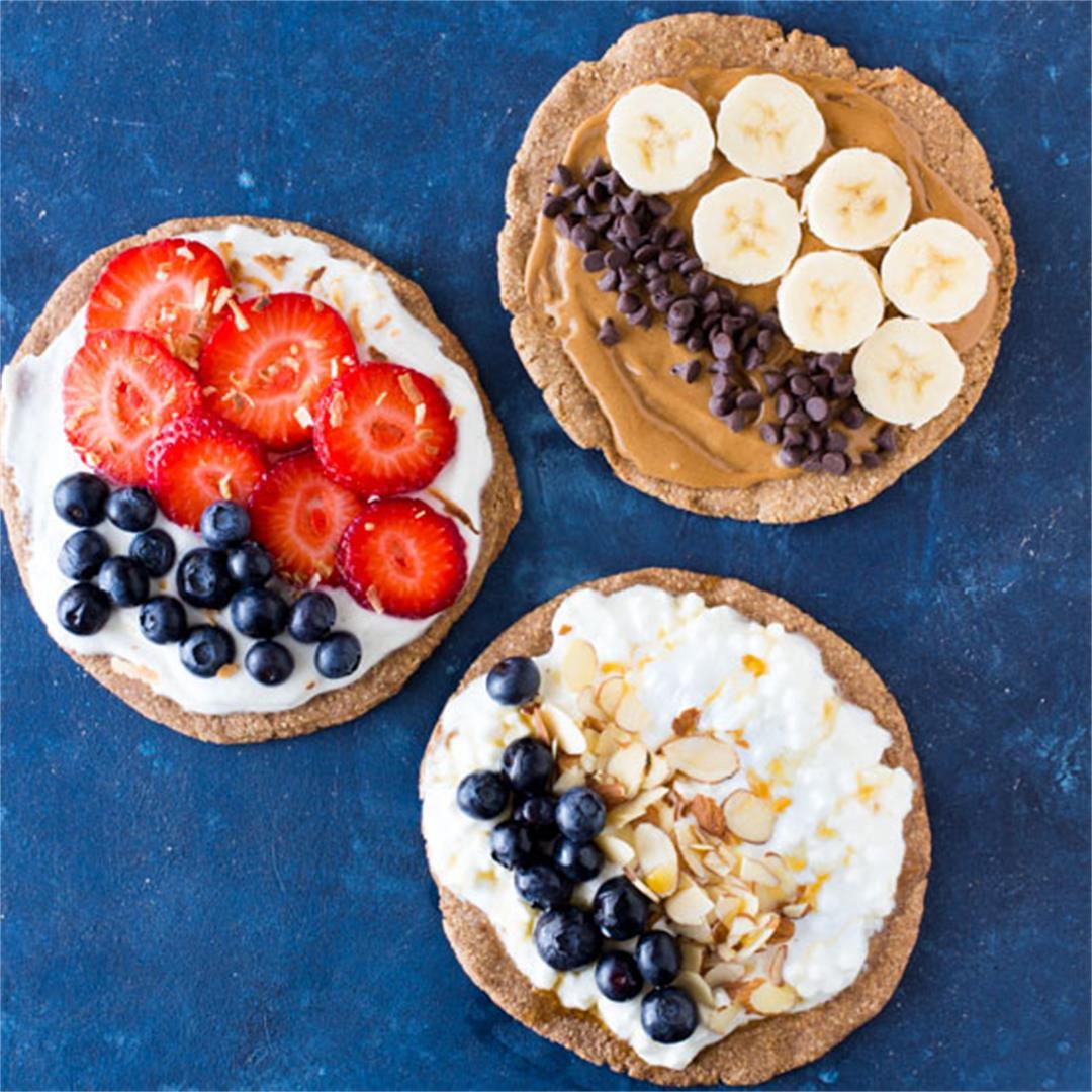 Oatmeal Crust Breakfast Pizzas