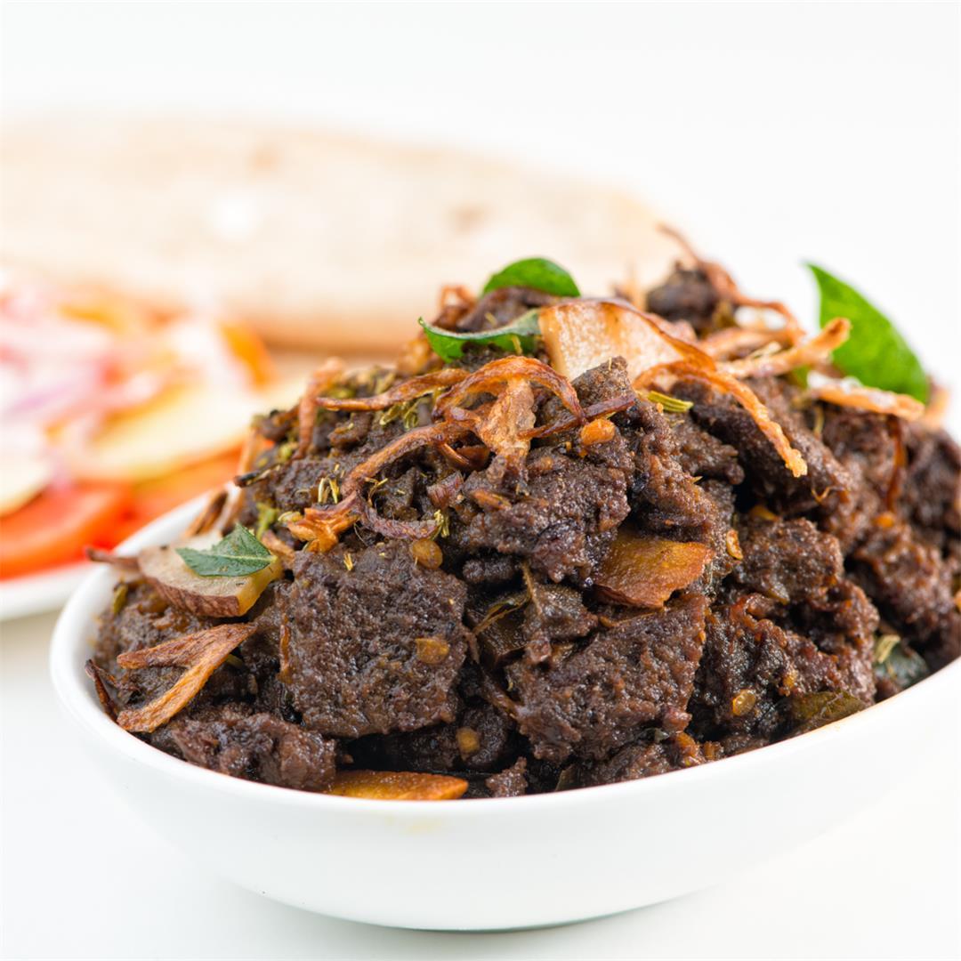 Beef Fry, Kerala Beef Fry, Beep Pepper Masala fry