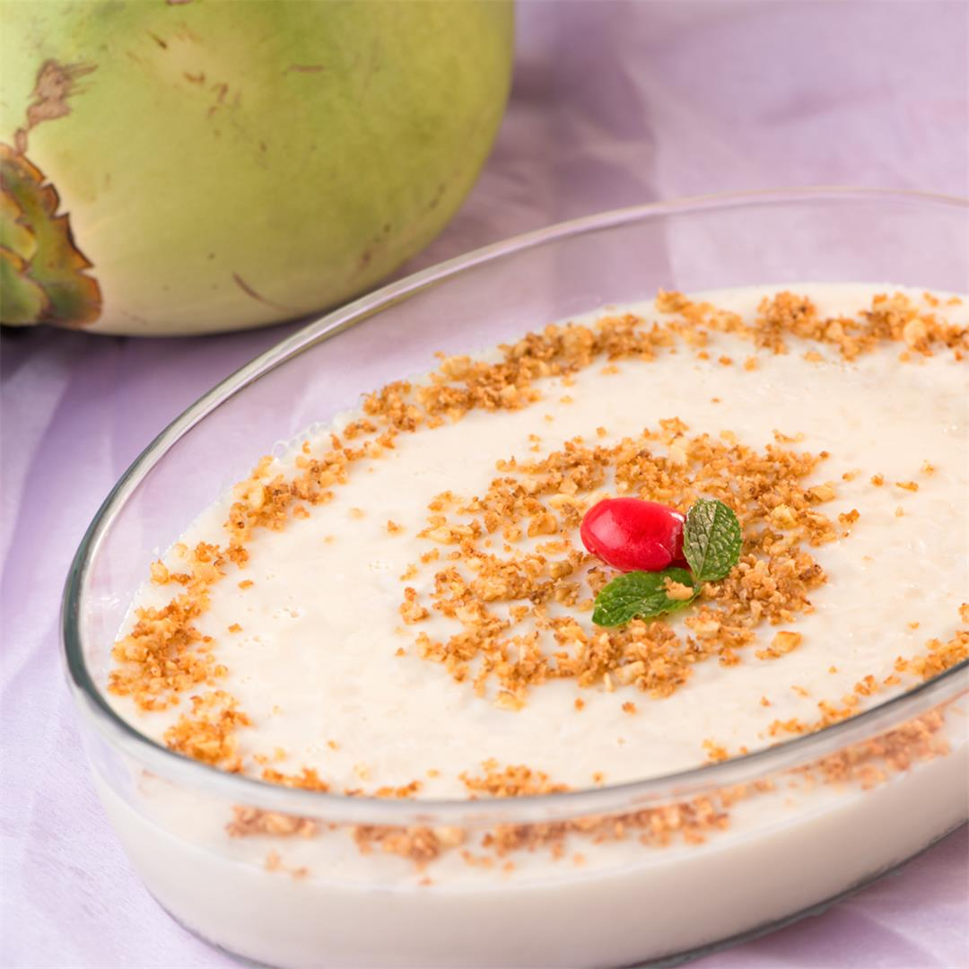 Karikku Pudding /Tender Coconut dessert/ Ilaneer pudding