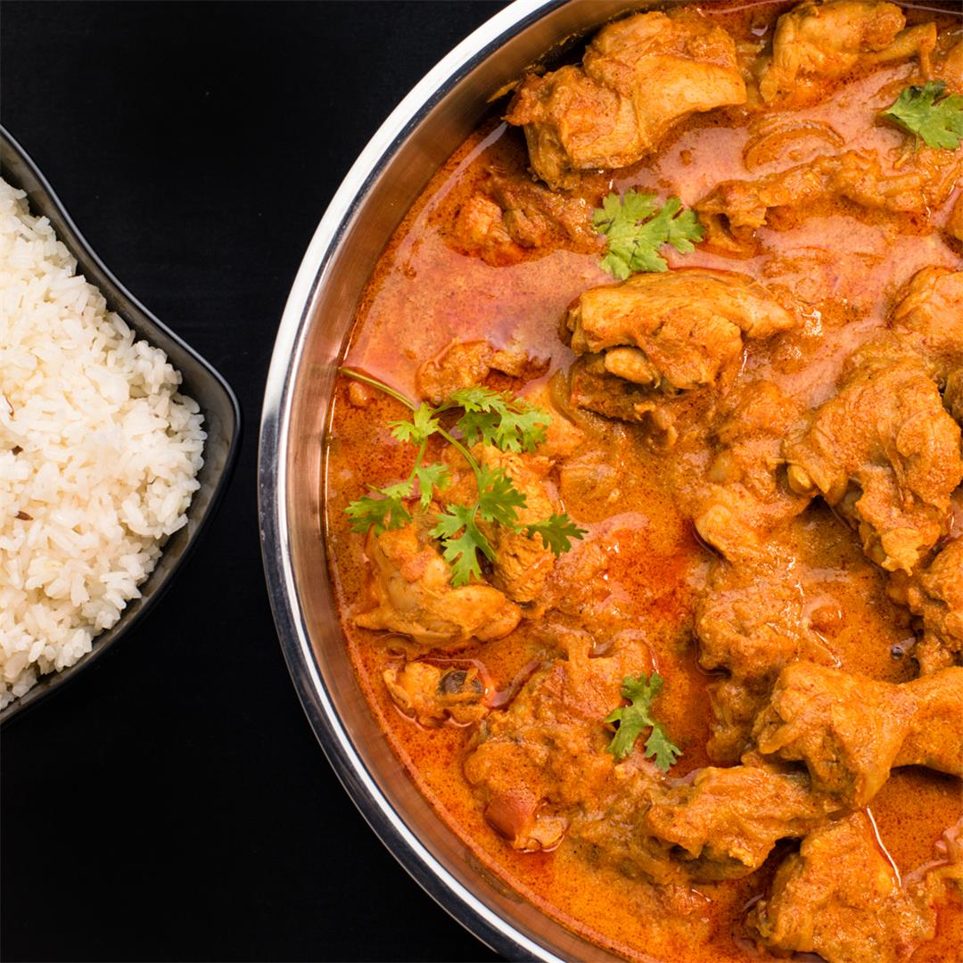 Punjabi Chicken Curry / Thick gravy Chicken Curry