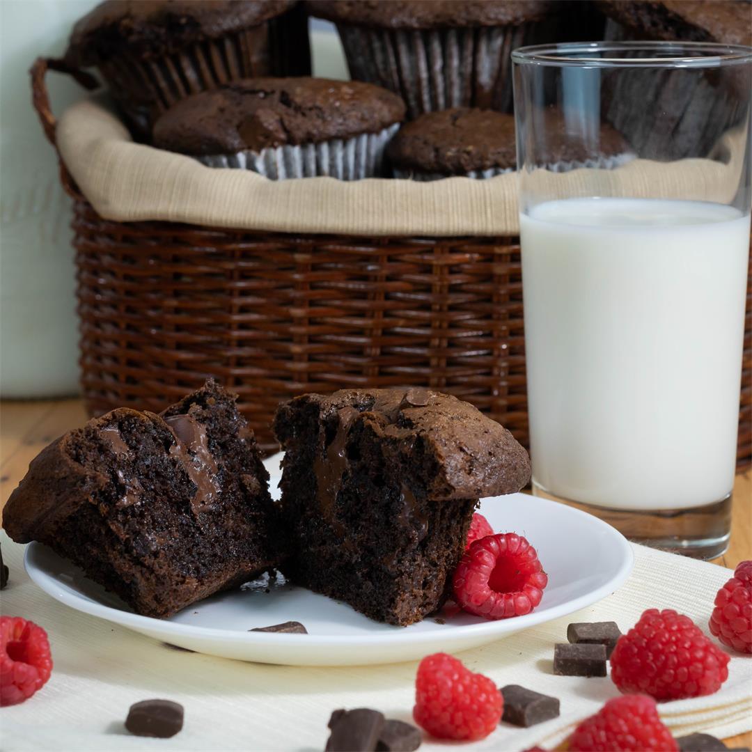 Jumbo Chocolate Chunk Muffins
