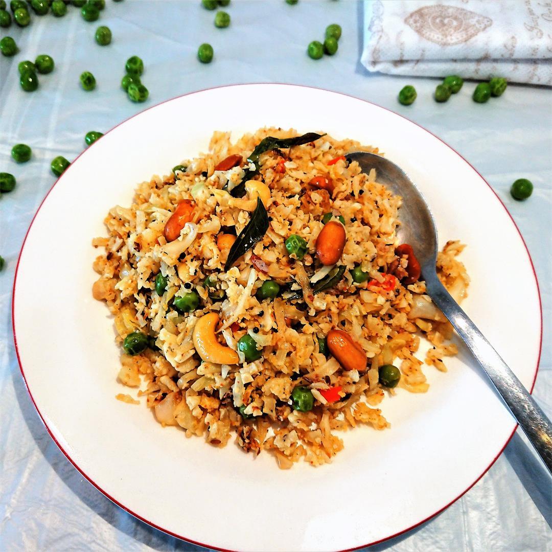 Coconut flavoured cauliflower rice