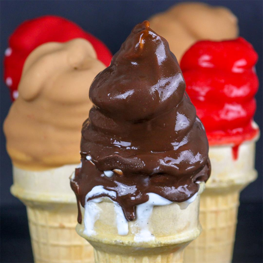 Dairy Queen Copycat Cherry, Butterscotch & Chocolate Dipped Con