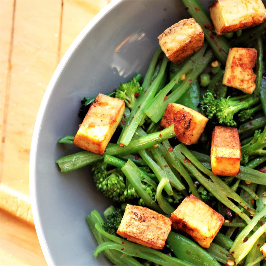 Crispy Baked Tofu Recipe (Vegan, GF)