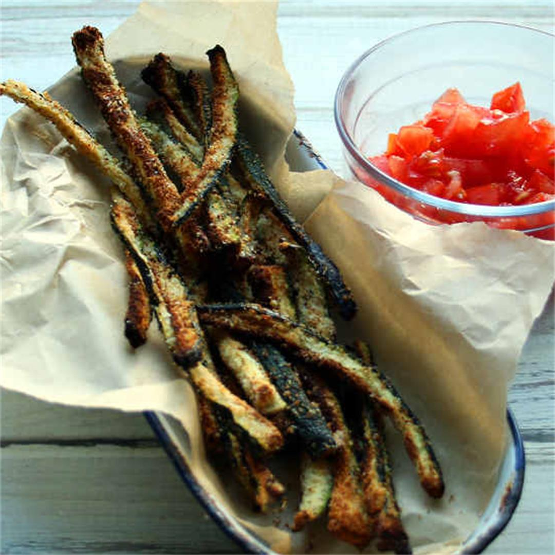 Spicy Seasoned Keto Zucchini Fries Recipe